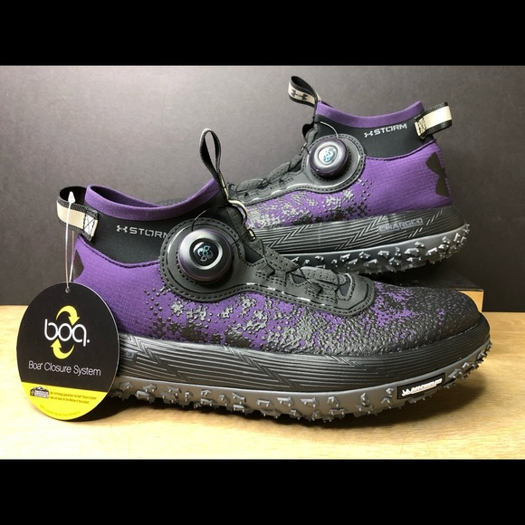 official photos 9dafd 3fffd Under Armour Fat Tire 2 BOA Trail Running Purple NWT